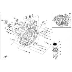 carter moteur gauche